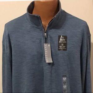 Van Heusen Sweaters - Mens Van Heusen 1/4 Zip Sweater Size 2XL XXL Blue